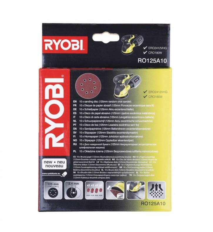 Dischi Abrasivi 125 mm. pz.10 - RO125A10 - Ryobi