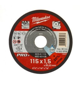 Disco Taglio Acciaio SCT41 115x1,5x22,23 - Milwaukee