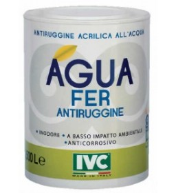 Antiruggine base acqua AGUA FER Grigio - Lt. 0,50