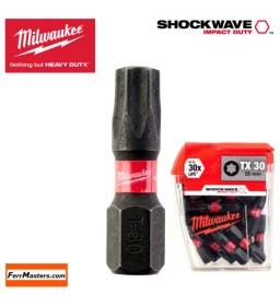 Inserto Bit TX 30 mm.25 - conf. 25 pz. - Milwaukee