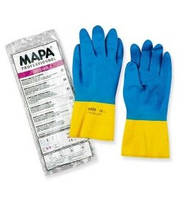 Guanto lattice/neoprene blu/giallo Mapa Duo-Mix 405